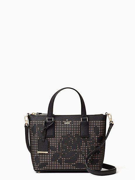 Kate Spade Cameron Street Perforated Lucie Crossbody, Black