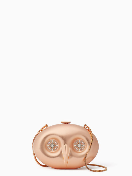 Kate Spade Evening Belles Owl Clutch, Rose-Gold