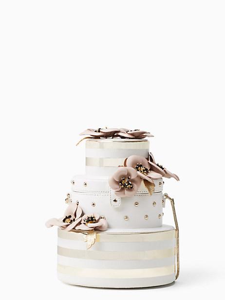Kate Spade Wedding Belles Flower Wedding Cake Bag, Gold