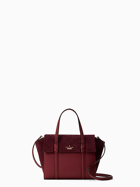 Kate Spade Daniels Drive Suede Small Abigail, Black Cherry