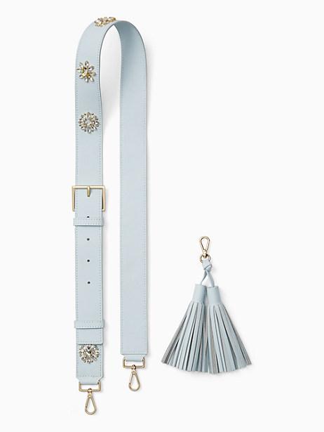Kate Spade Make It Mine Crystal Flowers Strap/tassel Pack, Shimmer Blue