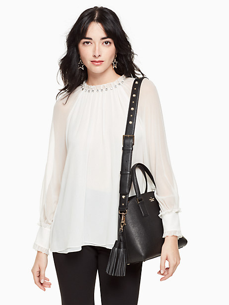 make it mine pearl studded strap/tassel pack by kate spade new york