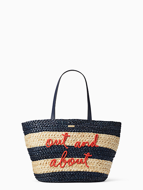 Kate Spade Shore Thing Out And About Straw Tote