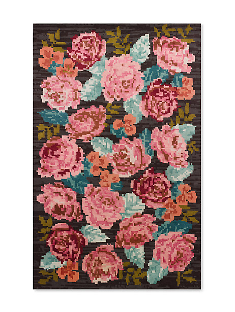 Kate Spade Needle Point Rose Rug Swatch