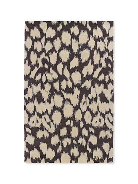 Kate Spade Leopard Ikat Rug, Licorice - Size 8'X10'