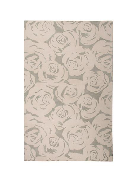 Kate Spade Contrast Rose Garden Rug, Platinum - Size 9'X12'