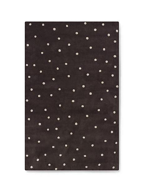 Kate Spade Deco Dot Rug, Liquorice - Size 5'X8'