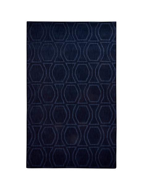 Kate Spade Bow Tile Rug, Blue - Size 5'X8'