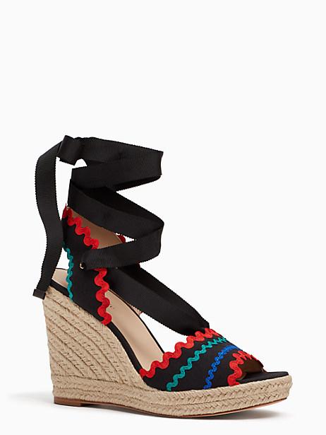 Kate Spade Javelina Wedges, Black - Size 10