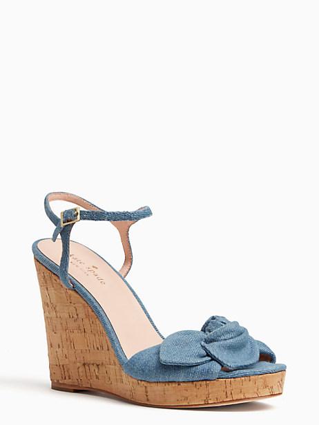 Kate Spade Janae Wedges, Light Blue - Size 6