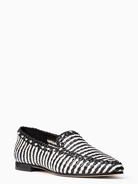 Kate Spade Caylee Flats, Black\White - Size 10