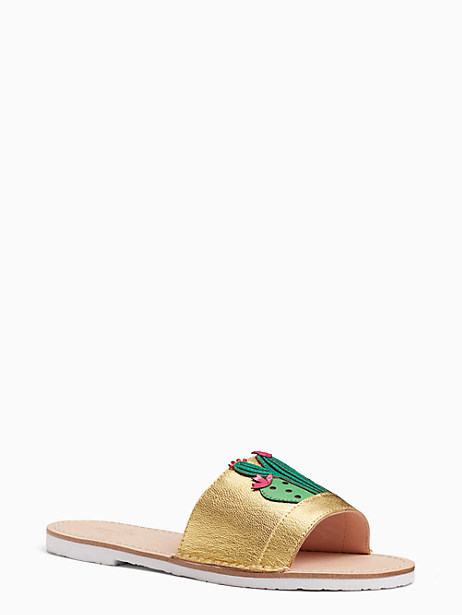 Kate Spade Iguana Sandals, Gold - Size 6