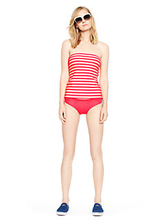georgica beach stripe bandeau tankini by kate spade new york