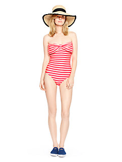 georgica beach stripe bandeau maillot by kate spade new york