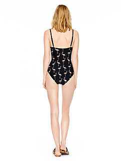 playa flamingos underwire maillot by kate spade new york
