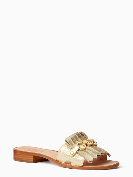 Kate Spade Brie Sandals, Gold - Size 10
