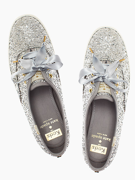 love these kate spade glitter sneakers