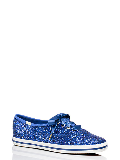 Keds X Kate Spade New York Glitter Sneakers, Keds Blue - Size 10