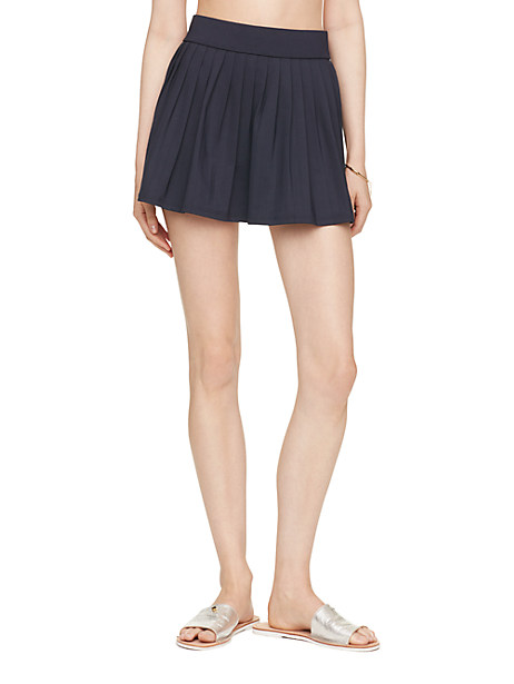 Kate Spade Georgica Beach Pleated Skirt Cover Up, Rich Navy - Size L