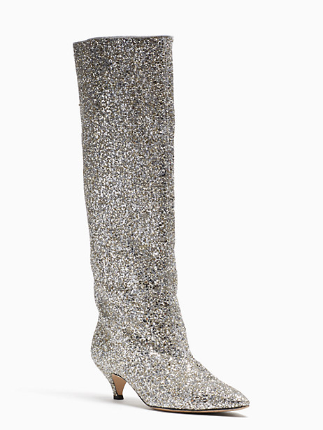 Kate Spade Olina Boots, Silver\Gold - Size 10