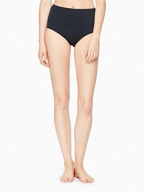 Kate Spade Plage Du Midi High Waist Bikini Bottom, Black - Size L