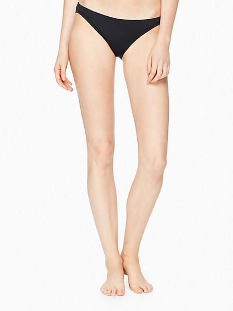 Kate Spade Plage Du Midi Classic Bikini Bottom, Black - Size M
