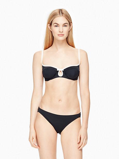 Kate Spade Plage Du Midi Bikini Top, Black - Size L