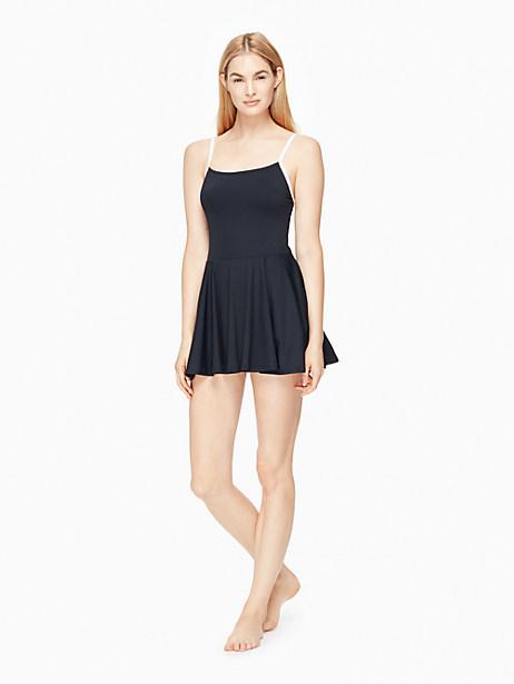Kate Spade Plage Du Midi Strap Back Swimdress, Black - Size L