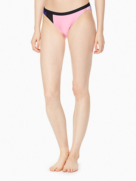 Kate Spade Gulf Breeze Classic Bikini Bottom, Black - Size L