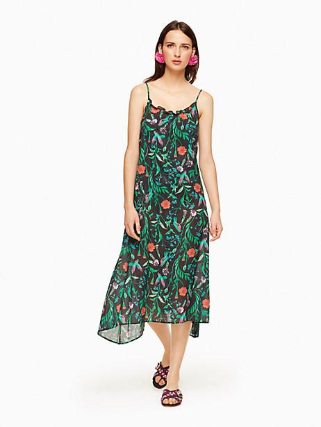 Kate Spade Marina Beach Maxi Dress Cover Up, Black - Size L