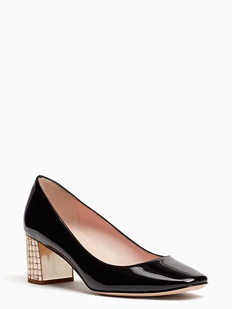 Kate Spade Danika Too Heels, Black/Light Stone - Size 10