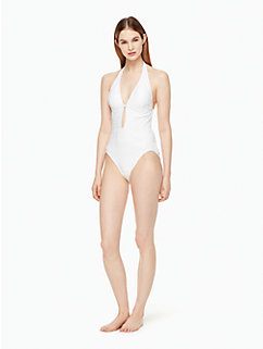 half moon bay plunge one-piece swimsuit by kate spade new york