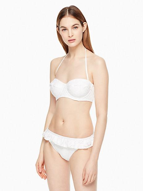 Kate Spade Half Moon Bay Underwire Bikini Top, White - Size L