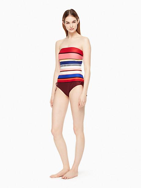 Kate Spade Miramar Beach Bandeau One-piece Swimsuit, Size L