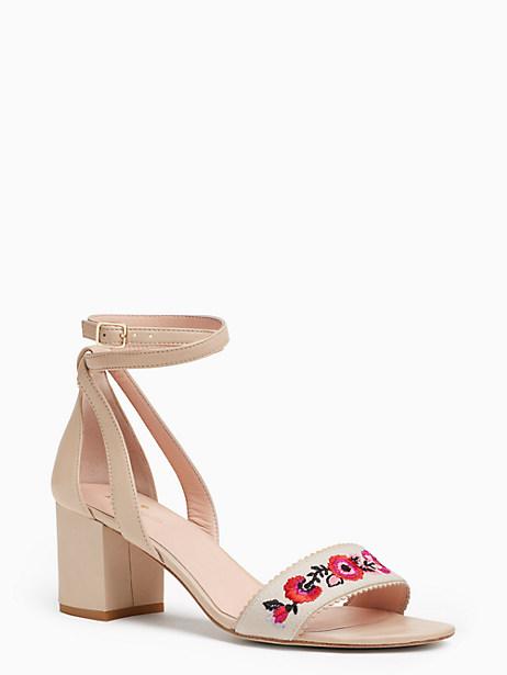 Kate Spade Watson Heels, Natural - Size 10