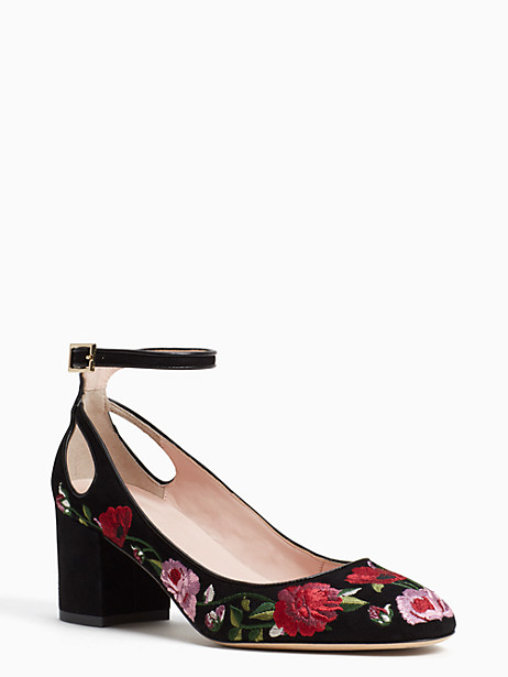 Kate Spade Gable Heels, Black - Size 6.5