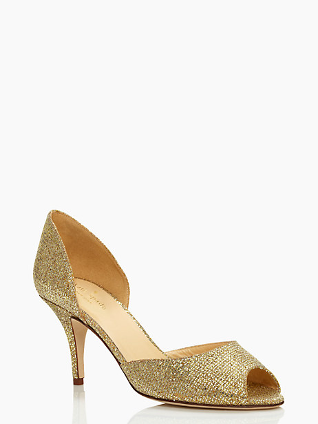 sage heels, gold