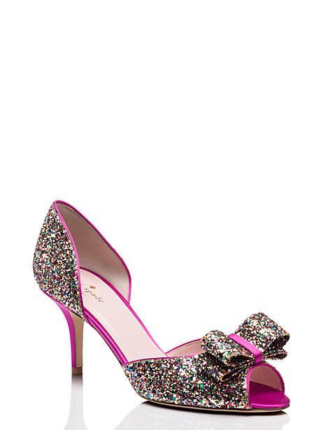 Kate Spade Sela Heels, Glitter - Size 10