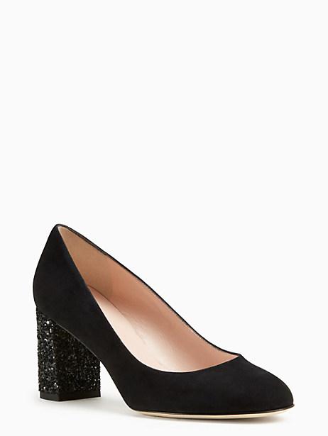 Kate Spade Anastasia Heels, Black - Size 5.5