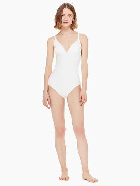 marina piccola v-neck one-piece swimsuit by kate spade new york