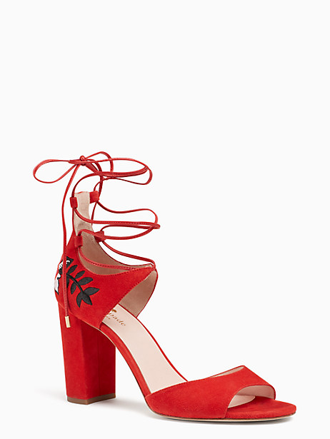 Kate Spade Oasis Heels, Maraschino Red - Size 10