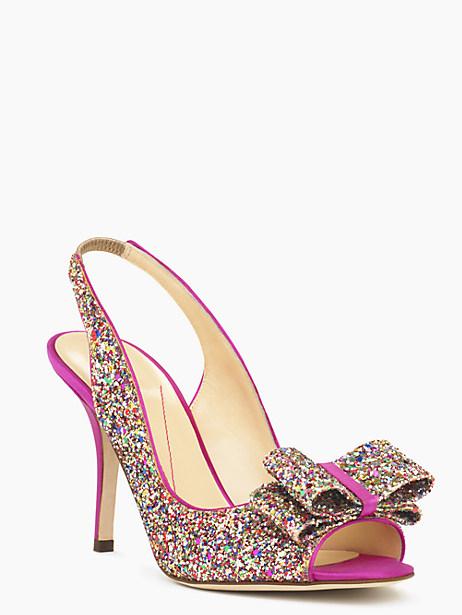 charm heels, multi glitter