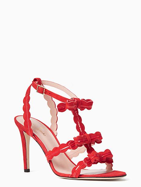 ilene heels, poppy red