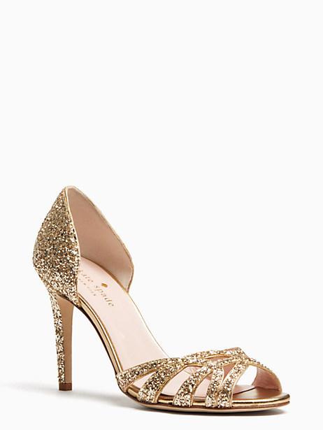 Kate Spade Idaya Heels, Gold - Size 10