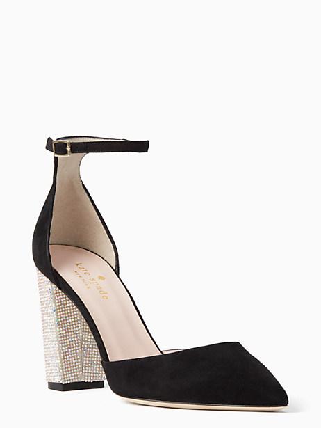 Kate Spade Pax Heels, Black - Size 10