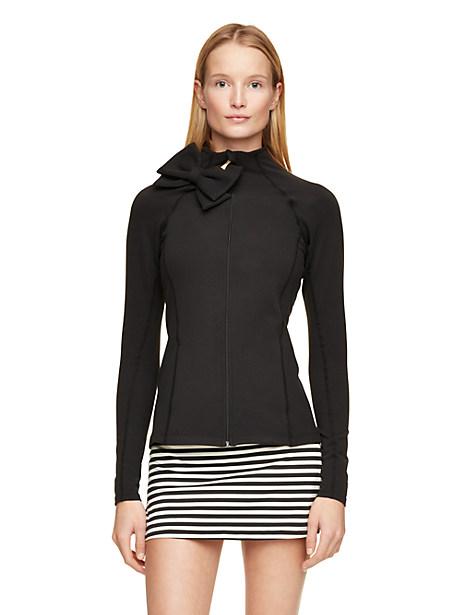 Bow Neck Jacket, Black - Size L