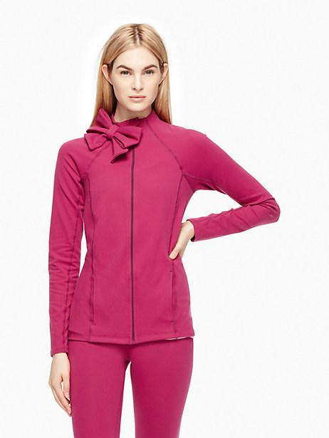Neck Bow Jacket, Zinfandel - Size L