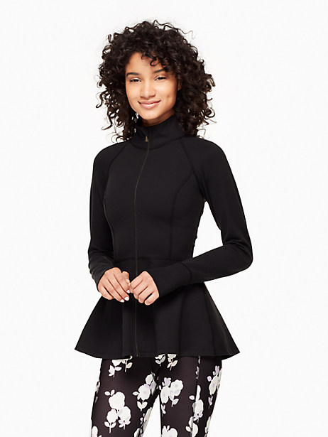 Back Bow Flounce Jacket, Black - Size L