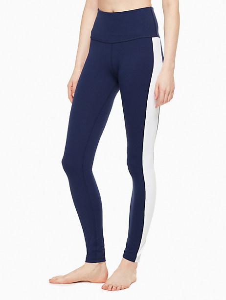 Kate Spade Tux High Waisted Long Legging, Navy/Fresh White - Size L