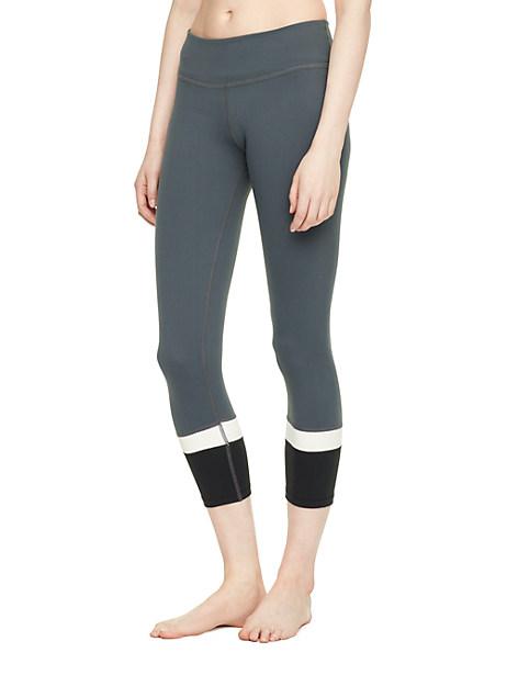 Kate Spade Banded Capri Legging, Smoky Quartz - Size L